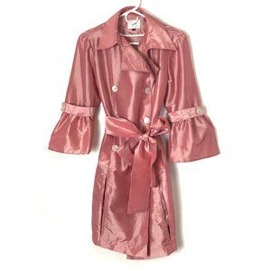 Holly in Hanoi Trenchcoat/Jacket Pink Belted M